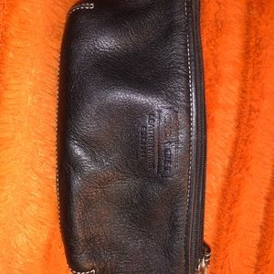 Coach accessories pouch, black leather